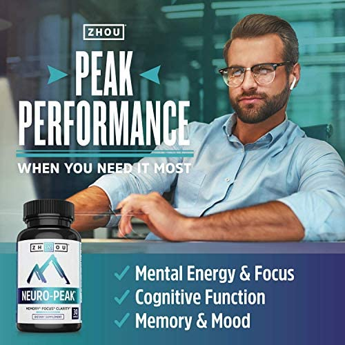 Neuro Peak Brain Support Supplement - Memory, Focus & Clarity Formula - Nootropic Scientifically Formulated for Optimal Performance - Dmae, Rhodiola Rosea, Bacopa Monnieri, Ginkgo Biloba & More 3