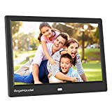 RegeMoudal with High Resolution 1280800 IPS LCD Panel, Support 64G SD Card and USB Stick Various Display Modes, for 1080P Videos/Pictures/Calendar/Time/Music Black