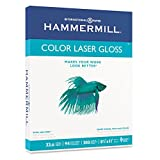 Hammermill : Color Laser Gloss Paper, 94 Brightness, 32lb, Letter, White, 300 Sheets per Pack -:- Sold as 2 Packs of - 300 - / - Total of 600 Each