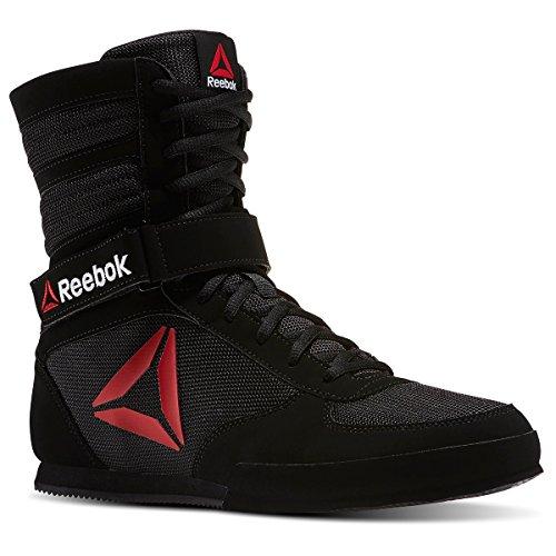 Reebok Men's Boot Boxing Shoe, Buck-Delta Black/White, 9 M US