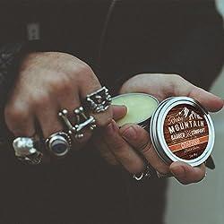 Beard Balm - Rocky Mountain Barber - 100% Natural - Premium Wax Blend with Cedarwood Scent, Nutrient Rich Bees Wax, Jojoba, Tea Tree, Coconut Oil  Image 1