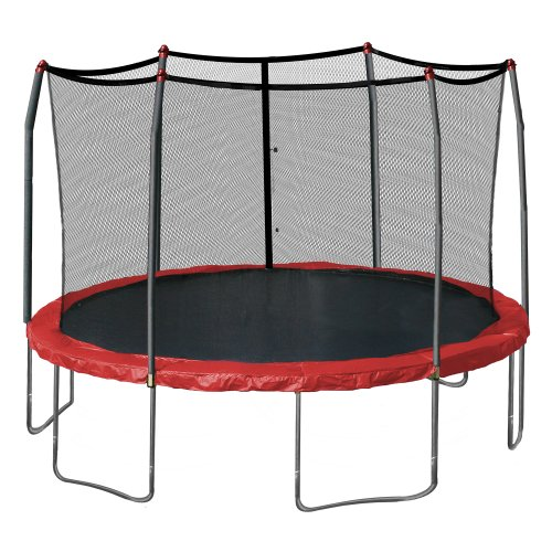 Skywalker Trampolines 15-Feet Round Trampoline, Red