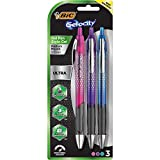 BIC Gel-ocity Ultra Retractable Fashion Gel Pen, Assorted Colors, 3-Count