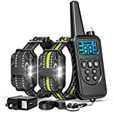 FunniPets Dog Training Collar, 2600ft Range Dog Shock Collar with Remote Waterproof Electronic Dog Collar for Medium and Large Dogs with 4 Training Modes Light Static Shock Vibration Beep