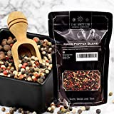 The Spice Lab (1 Lb) Kings Peppercorn Medley (5 Pepper Mix) Mixed Peppercorns Blend - All Natural OU Kosher Non GMO Gluten Free - 16 oz Resealable Bag