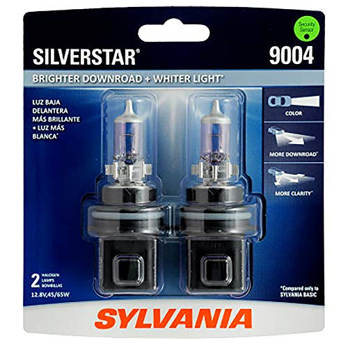 SYLVANIA - H7 SilverStar - High Performance Halogen Headlight Bulb, High Beam, Low Beam and Fog Replacement Bulb, Brighter Downroad with Whiter Light (Contains 2 Bulbs)