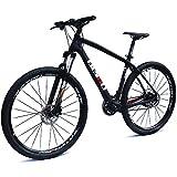 BEIOU Carbon 29 Inch Mountain Bike 29er Hardtail Bicycle 2.10' Tires Upgrade to Shimano ACERA M3000 27 Speed XC/Trail MTB T800 Ultralight Frame Matte 3K BOCB020-29 (Black, 19inch)