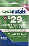 Factory Preloaded LYCAMOBILE Mini+Micro+Nano(3in1)SIMCard + $29 X 2 Months
