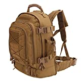 ARMYCAMOUSA Expandable Adjustable 40L - 64L Outdoors 3 Day Backpack for Hiking School Gym Sport Camping Trekking Travel Military & Tactical,Bug Out Bag
