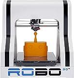 ROBO 3D R1 Plus 10x9x8-Inch ABS/PLA 3D Printer, White (A1-0002-000)