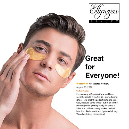 (24 PAIRS) Rejuvenating Under Eye Mask for Puffy Eyes - Dark Circles Under Eye Bags Treatment - 24k Gold Anti-Aging Under Eye Patches - Under Eye Pads w/Hydrating Gel - Wrinkle Care for Women and Men 6