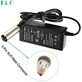 24V Electric Scooter Battery Charger Cable For eZip 750, E750, 400, E400, 500, E500, 450, 900, 4.0, 4.5, E-4.5; eZip Trailz Electric Bike Motor Bicycle Parts - With 3-Pin XLR Connector[0.6A 600mA 36W]