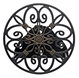 Liberty Garden 670 Wall Mounted Decorative Hose Butler, Holds 125-Feet of, 5/8-Inch, Bronze