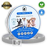 Flеa Tiсk Collar Prevention Control for Dogs & Cats - Natural Herbal Non-Toxic Adjustable Flеa Collar Waterproof Protection for Large Medium Small Pet Supplies Repels Flеas Licе Tiсks Mоsquitоes