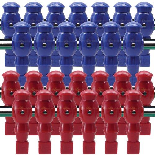 26 Red and Blue Robotic Foosball Men