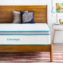 LINENSPA 12 Inch Gel Memory Foam Hybrid Mattress – Ultra Plush – Individually Encased Coils – Sleeps Cooler Than Regular…