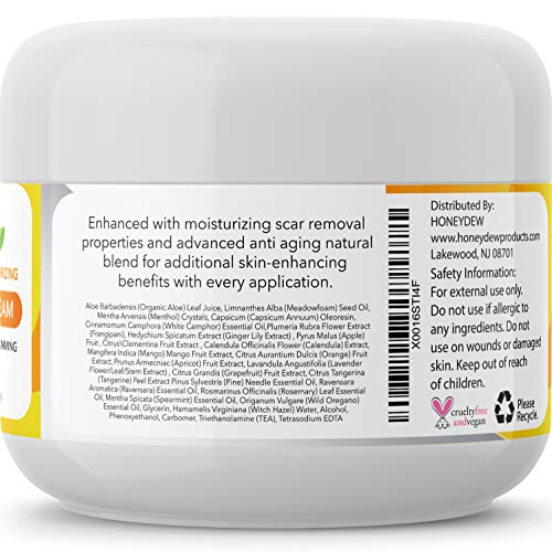 Hot Cream Cellulite Treatment Belly Fat Burner for Women and Men Natural Anti Aging Cream with Antioxidants and Essential Oils Rosemary Lavender Aloe Deep Tissue Massage & Muscle Relaxer 4