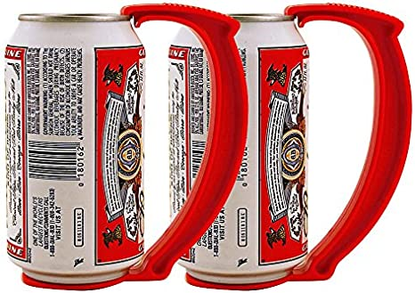 Amazon.com: KegWorks Instant Beer Stein Can Grip Handle - Set of 2 for Beer  or Soda Pop Cans: Kitchen & Dining
