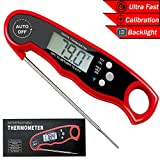 FoodOmeter Digital-Meat-Thermometer Waterproof Instant Read Thermometer with Folding Probe for Food BBQ Grill Cooking and Kitchen