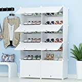JOISCOPE Portable Shoe Storage Organzier Tower, Modular Shoe Cabinet for Space Saving, Shoe Racks Ideal for Shoes, Boots, Slippers,2/7