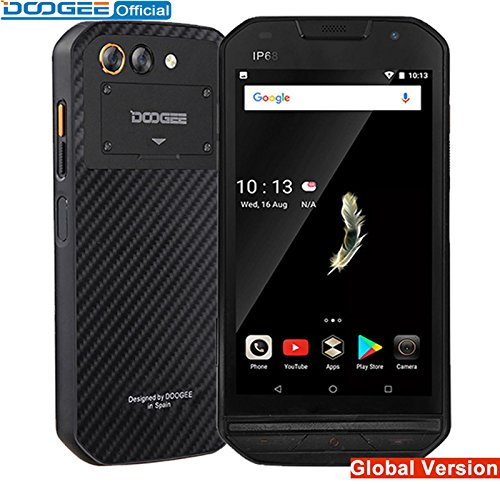 """DOOGEE S30 Smartphone side fingerprint 2GB 16GB Dual camera 5580mAh 5V/2A Quick Charge 5.0""""HD Android 7.0 Waterproof Unloacked"""