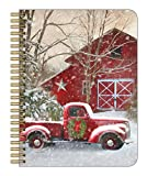 Legacy Publishing Medium Spiral Notebook, 6.6 x 8.25-Inches, Christmas Truck and Barn