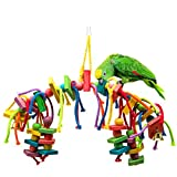 MEWTOGO Natural and Colorful Knots Block Parrot Chewing Toys (multi color-Arch)