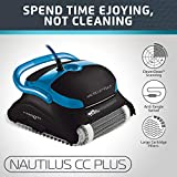 Dolphin Nautilus CC Plus Automatic Robotic Pool Cleaner with Easy to Clean Large Top Load Filter Cartridges and Tangle-Free Swivel Cord, Ideal for In-ground Swimming Pools up to 50 Feet.