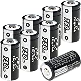 Rechargeable CR123A Batteries Rechargeable Arlo Batteries RCR123A 750mAh 3.7V Tinyfish Rechargeable for Arlo (VMC3030/3200/3330/3430/3530) Security Cameras (8PCS Batteries Only)