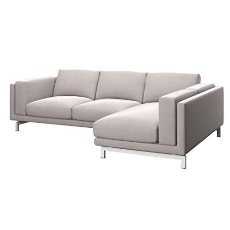 Soferia Replacement Cover For Ikea Nockeby 2 Seat Sofa With Right Chaise Longue Elegance Beige
