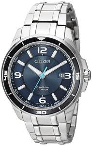 Citizen Men's ' Quartz Titanium Casual Watch, Color:Silver-Toned (Model: BM6929-56L)