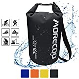 MORECOO Waterproof Bag Floating Ultra Light Dry Bag Outdoor Sports Sweatproof Dry Backpack 5L/10L for Kayaking/Rafting/Boating/Swimming/Camping/Hiking/Beach/Fishing (Black, 20L)