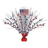 """Patriotic Party Spray Centerpiece, 18"""""""