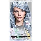 L'Oréal Paris Feria Pastels Hair Color, P1 Sapphire Smoke (Smokey Blue)