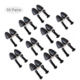 EchoDone 10 Pairs Plastic Shoe Tree Stretcher Shaper for Men Adjustable Length Shoes Boot Holder Shaper Support