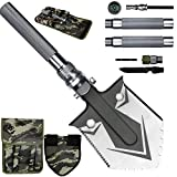 KEPEAK Military Folding Shovel Survival, Camping Shovel Multitool with Tactical Waist Pack for Camping, Hiking, Backpacking, Adventure