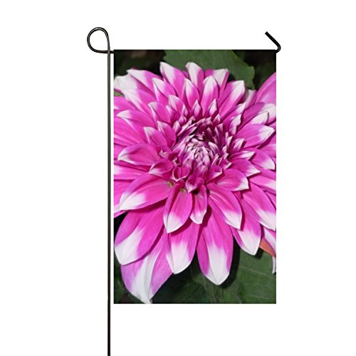 WilBstrn Summer Personality Chrysanthemumpurple Garden Flag Polyester Outdoor Flag Home Party - Duplex printing