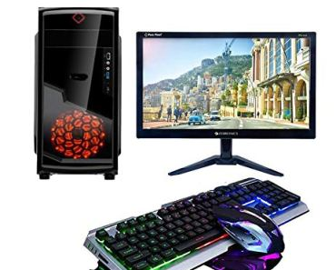 CHIST Gaming Desktop Intel Core i5 8GB 1TB HDD DDR5 GT 710 2GB Graphic Card 20 Full HD Monitor Keyboard Mouse WiFi Ready to Play