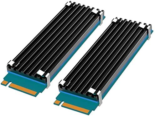 glotrends [2 Packs] M.2 Kuehler M.2 Kühler für 2280 M.2 SSD mit Silikon-Wärmeleitpad