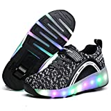 SDSPEED Kids Roller Skate Shoes with Single Wheel Shoes Sport Sneaker LED
