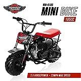 Mega Moto - Gas Mini Bike - 105CC/3.5HP with Suspension (MM-B105-RBS)(Red)