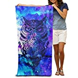 DWN Bath Towels Blue Owl 32'x51' Premium Towel Blanket Super Soft Absorbency