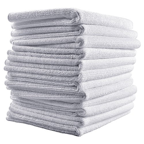 Microfiber Towels - Reusable, Quick Drying, Durable, Premium All-purpose Cleaning Cloths, 12 pack or 24 pack (16 in. x 24 in.)