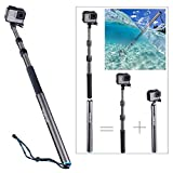 Smatree Carbon Fiber Detachable Extendable Floating Pole Compatible for GoPro Hero Fusion/7/6/5/4/3 Plus/3/Session/GoPro Hero 2018/DJI OSMO Action Camera