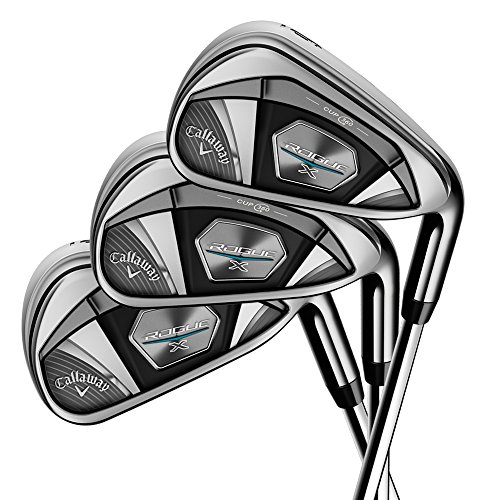 Callaway Golf 2018 Men's Rogue X Iron Set, Right Hand, Regular, 4-9 Iron, PW, Synergy, 60G