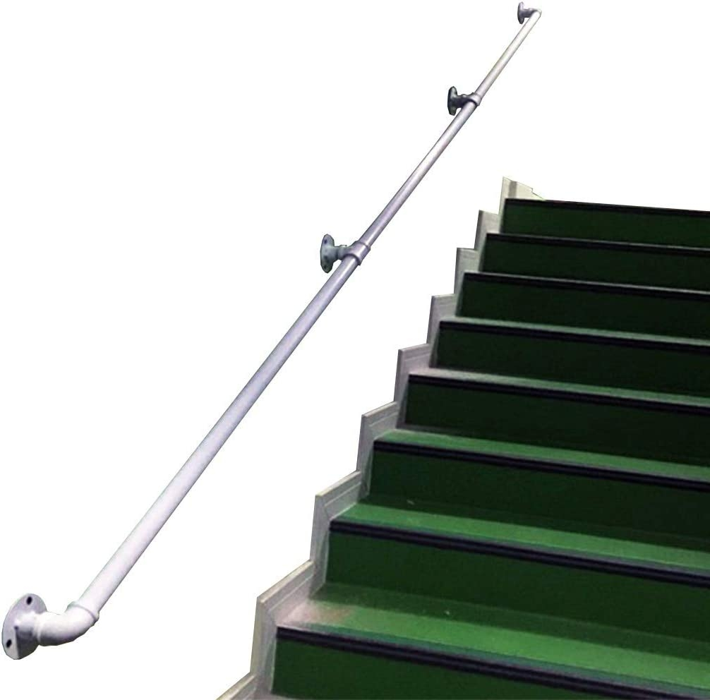 Amazon Com Cmmc Handrail 1Ft 20Ft Industries Wrought Iron Round | Detachable Banister And Stair Hand Railing | Stair Case | Half Wall | Modern | Traditional | Mezzanine