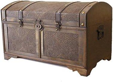 Nostalgic Medium Wood Storage Trunk