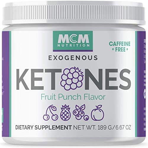 MCM Nutrition - Exogenous Ketones Supplement & BHB - Caffeine Free and Suppresses Appetite - Instant Keto Mix That Puts You into Ketosis Quick & Helps with The Keto Flu (Fruit Punch - 15 Servings) 3