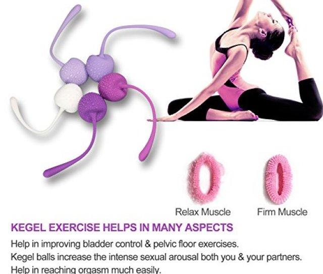 Amazon Com Kegel Weights Balls Kinkly Ben Wa Balls Kegel Exercise Weights Bladder Control Device For Women Beginners Health Personal Care