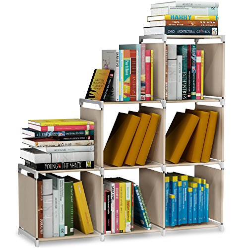 Storage Cube Closet Organizer Shelf 6-cube Cabinet Bookcase Shelves Beige